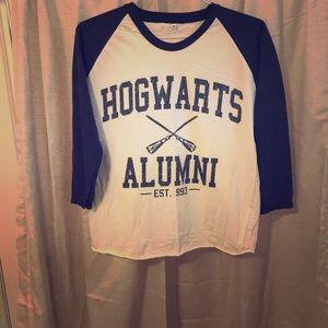 Tops - Hogwarts Alumni Baseball T